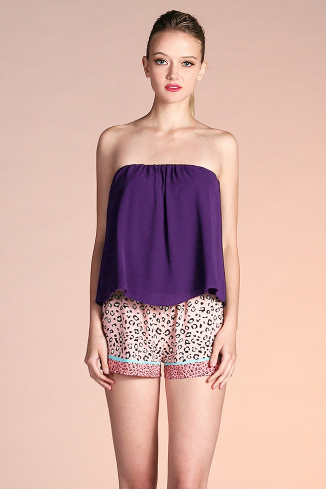 Tyche Flowy Tube Top - Front Cropped Image