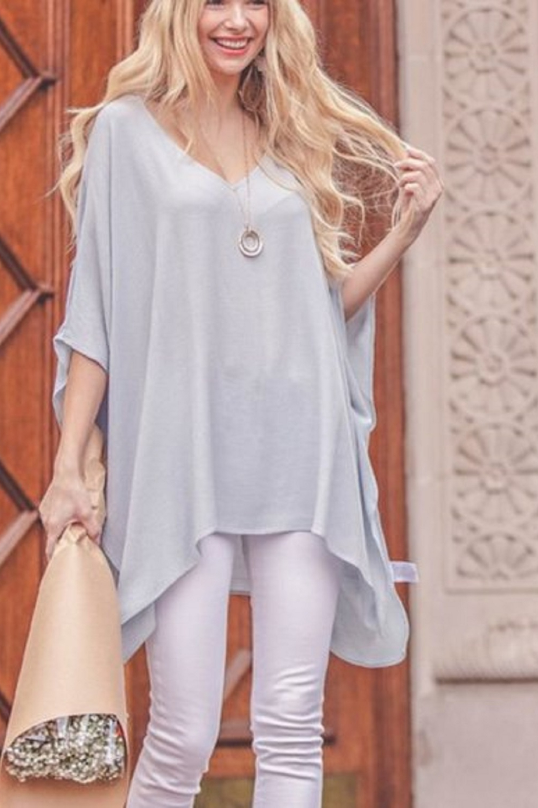 Kori Flowy Tunic Top - Front Cropped Image