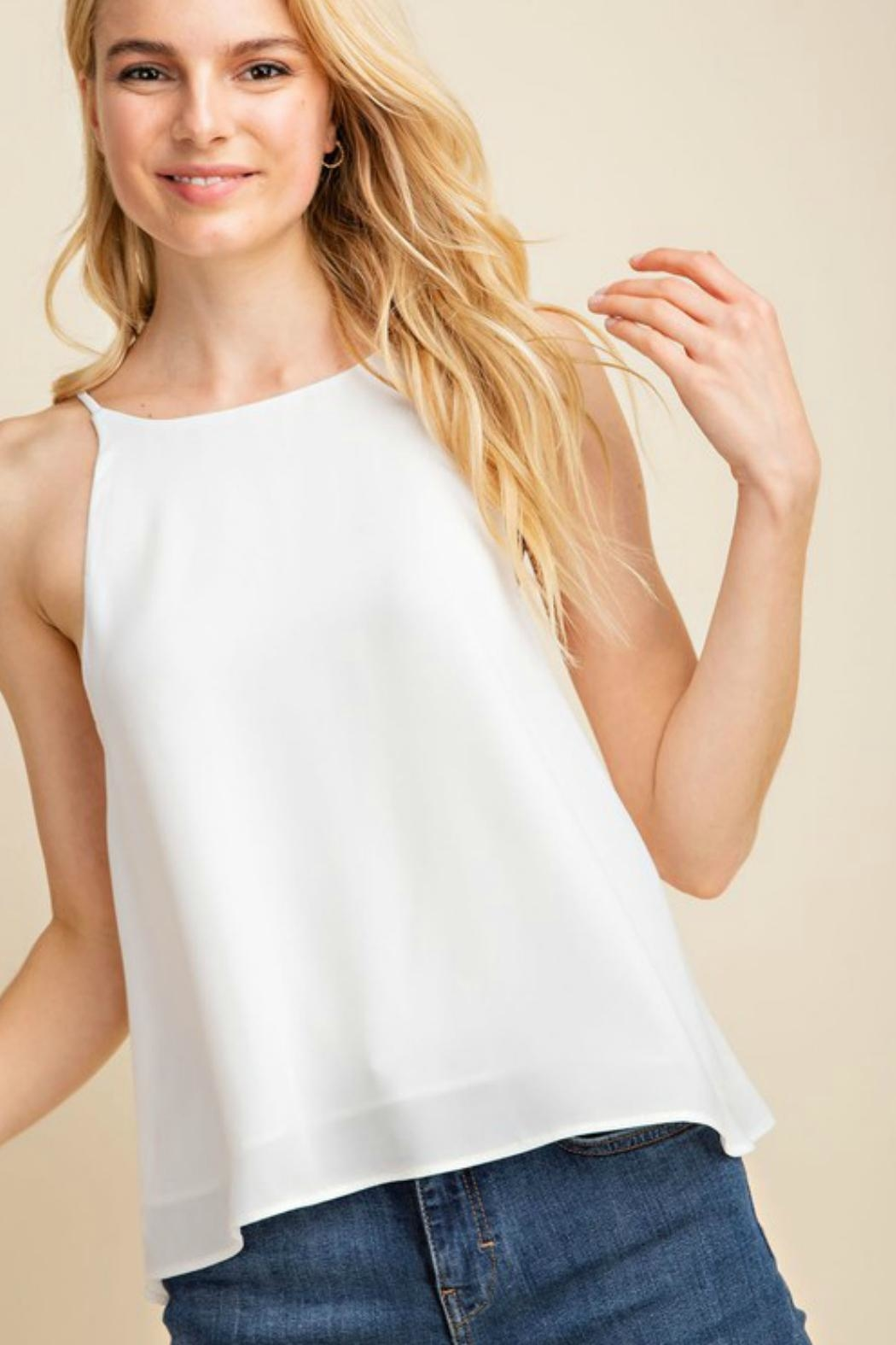 Gilli USA Flowy White Tank-Top - Side Cropped Image