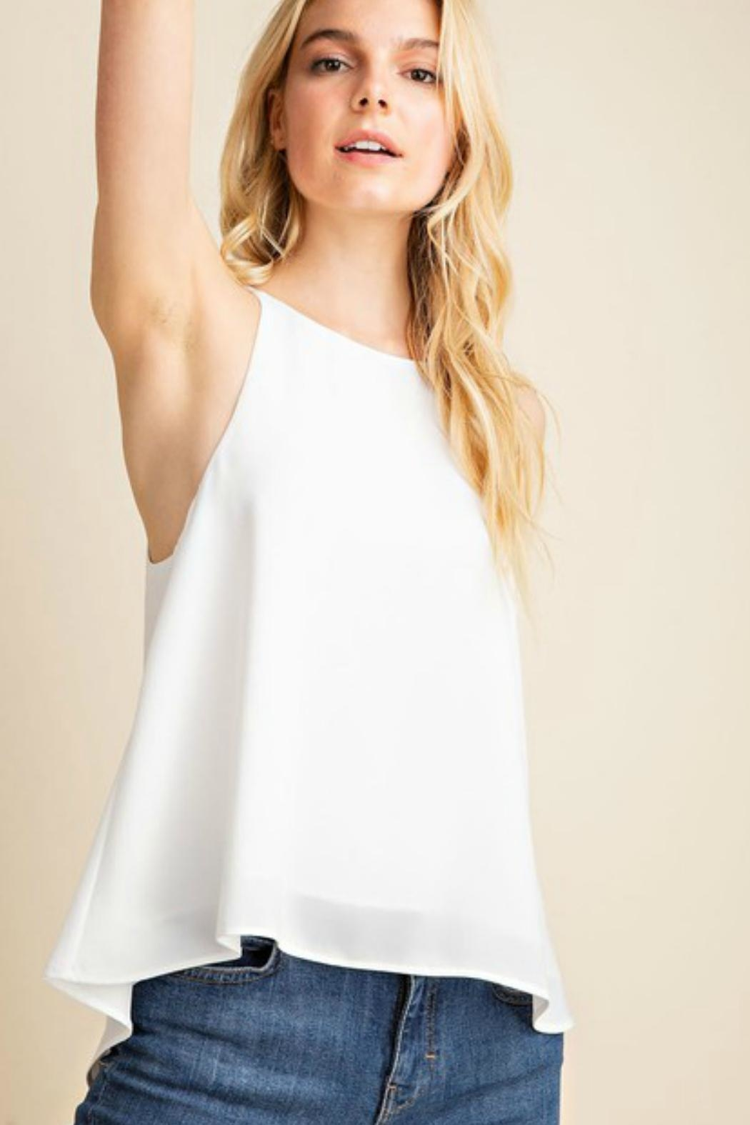 Gilli USA Flowy White Tank-Top - Front Full Image