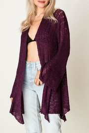 fashion on earth Flowy Woven Cardigan - Product Mini Image