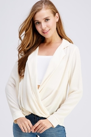 Lush Flowy Wrap Blouse - Product Mini Image