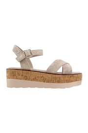 Corky's Shoes Fluffie wedged sandal - Front full body