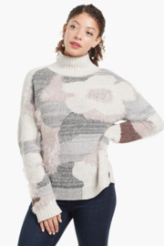 Nic +Zoe Fluffy floral sweater - Product Mini Image