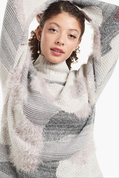Nic + Zoe  Fluffy Florals Sweater - Product List Image