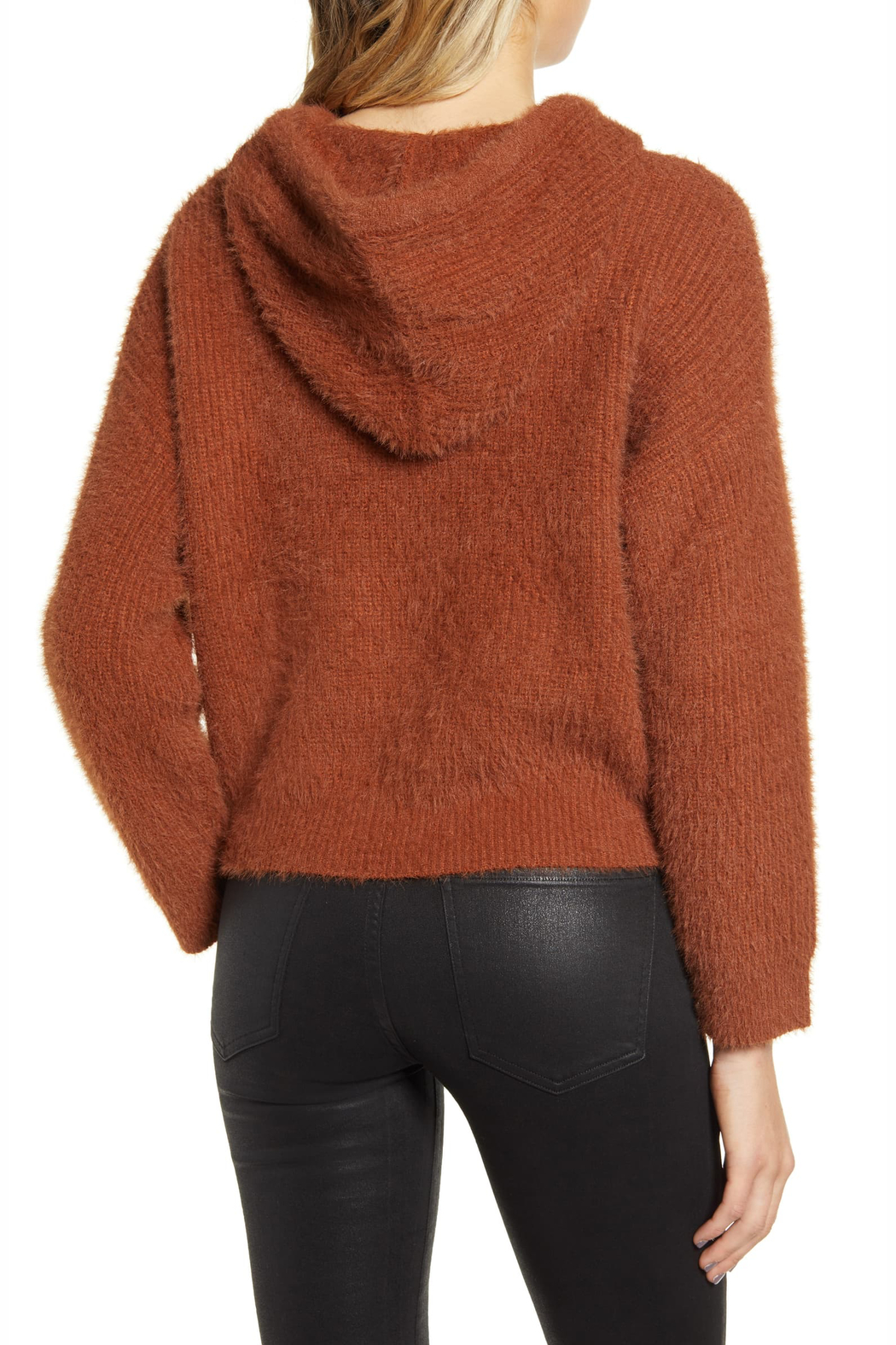 MINKPINK Fluffy Knit Hoodie - Front Full Image