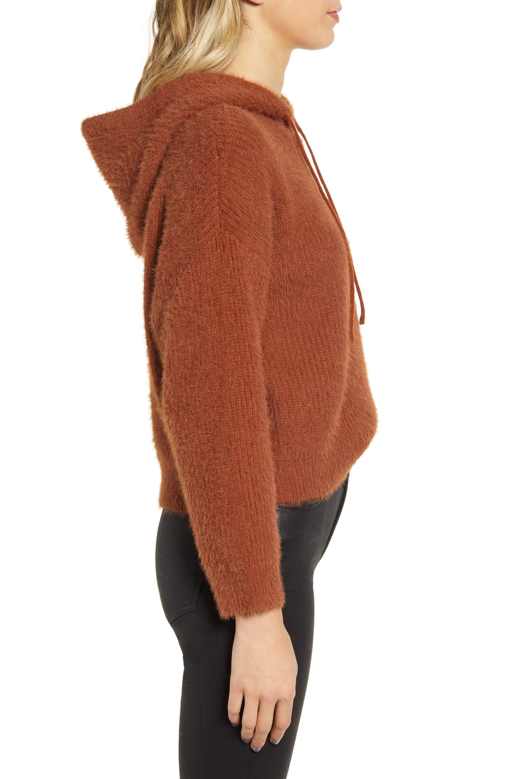 MINKPINK Fluffy Knit Hoodie - Side Cropped Image