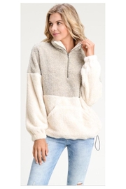 Doe & Rae Fluffy Three-Quarter Zip - Product Mini Image