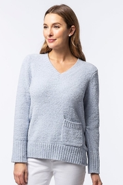 Tyler Boe Fluffy V-Neck Sweater, Sea Mist - Product Mini Image