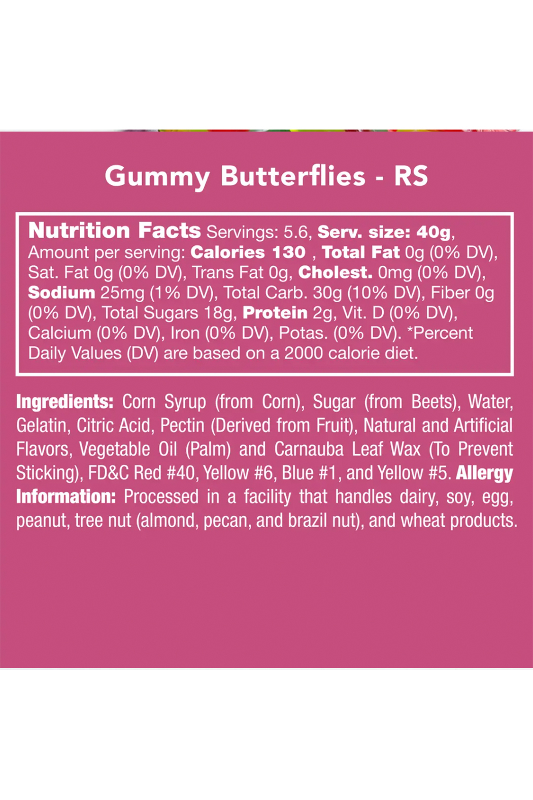 Candy Club Gummy Butterflies - Side Cropped Image