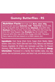 Candy Club Gummy Butterflies - Side cropped