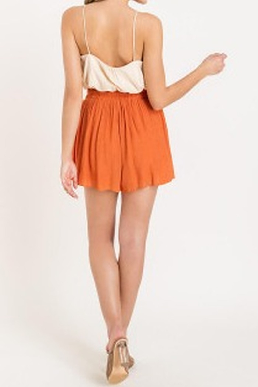 Lush  Flutter High Waisted Shorts - Front Full Image