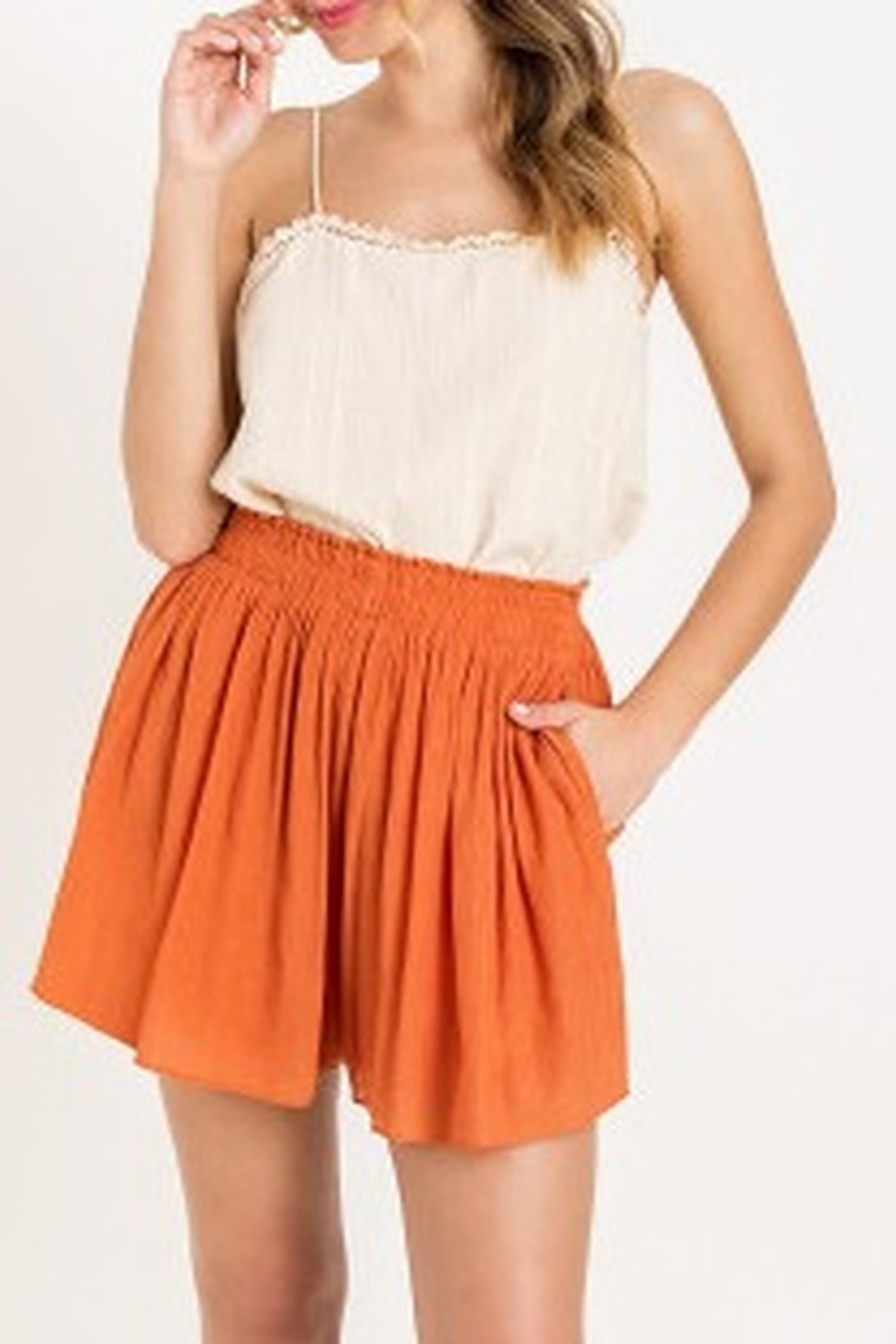 Lush  Flutter High Waisted Shorts - Main Image