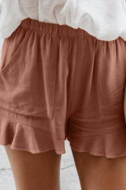 Kindred Mercantile Flutter Ruffle Shorts - Front cropped