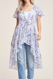 Staccato Flutter Short Sleeve Top - Product Mini Image
