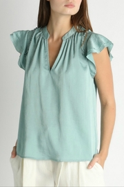 Current Air Flutter Sleeve Blouse - Product Mini Image