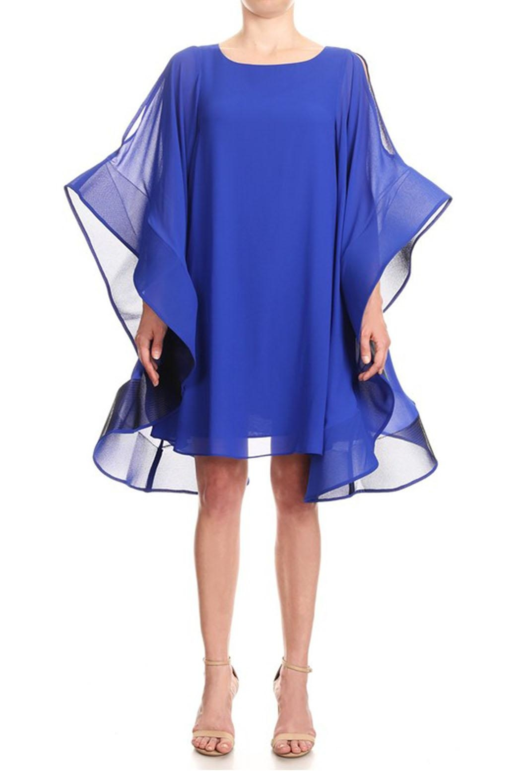 Ina Flutter Sleeve Dress - Main Image