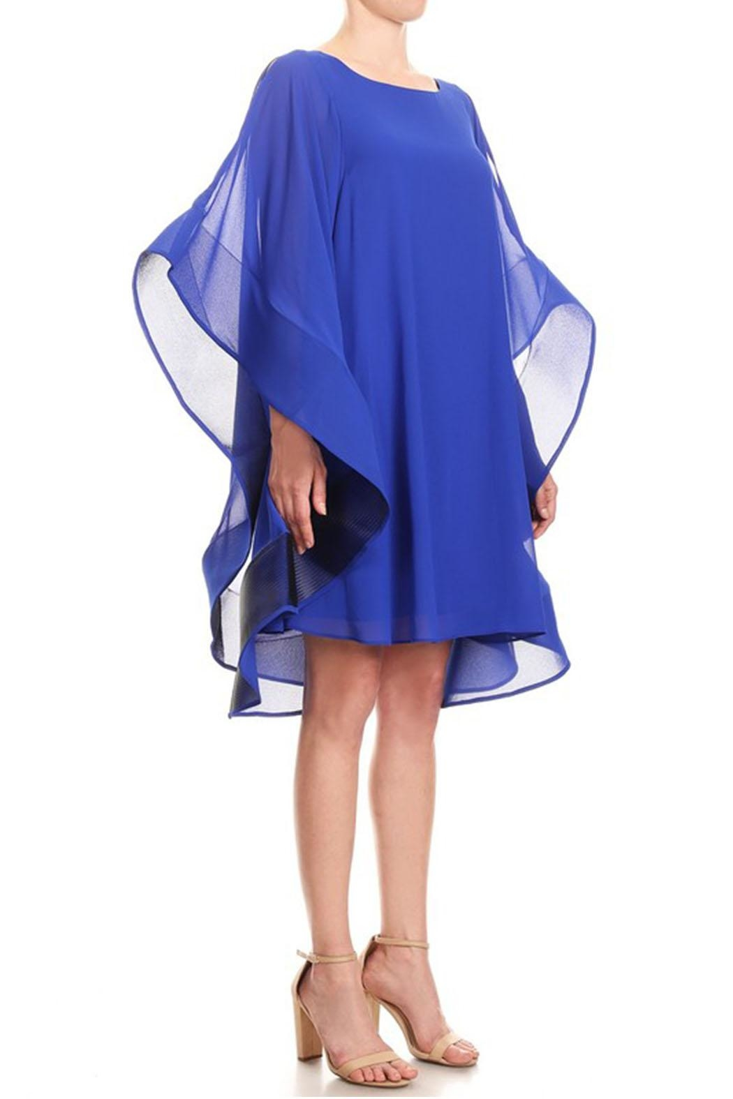 Ina Flutter Sleeve Dress - Front Full Image