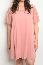 Lyn-Maree's  Flutter Sleeve Dress - Front cropped