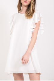 Very J Flutter Sleeve Dress - Product Mini Image