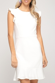 She + Sky Flutter Sleeve Dress - Product Mini Image