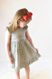 YO BABY Flutter Sleeve Dress With Matching Diaper Cover - Product Mini Image