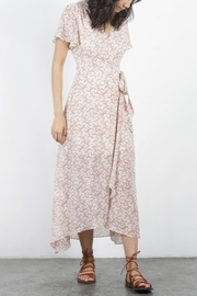 Mod Ref Flutter-Sleeve Floral Maxi-Dress - Product Mini Image