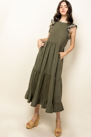 Thml Flutter Sleeve Knit Dress - Product Mini Image