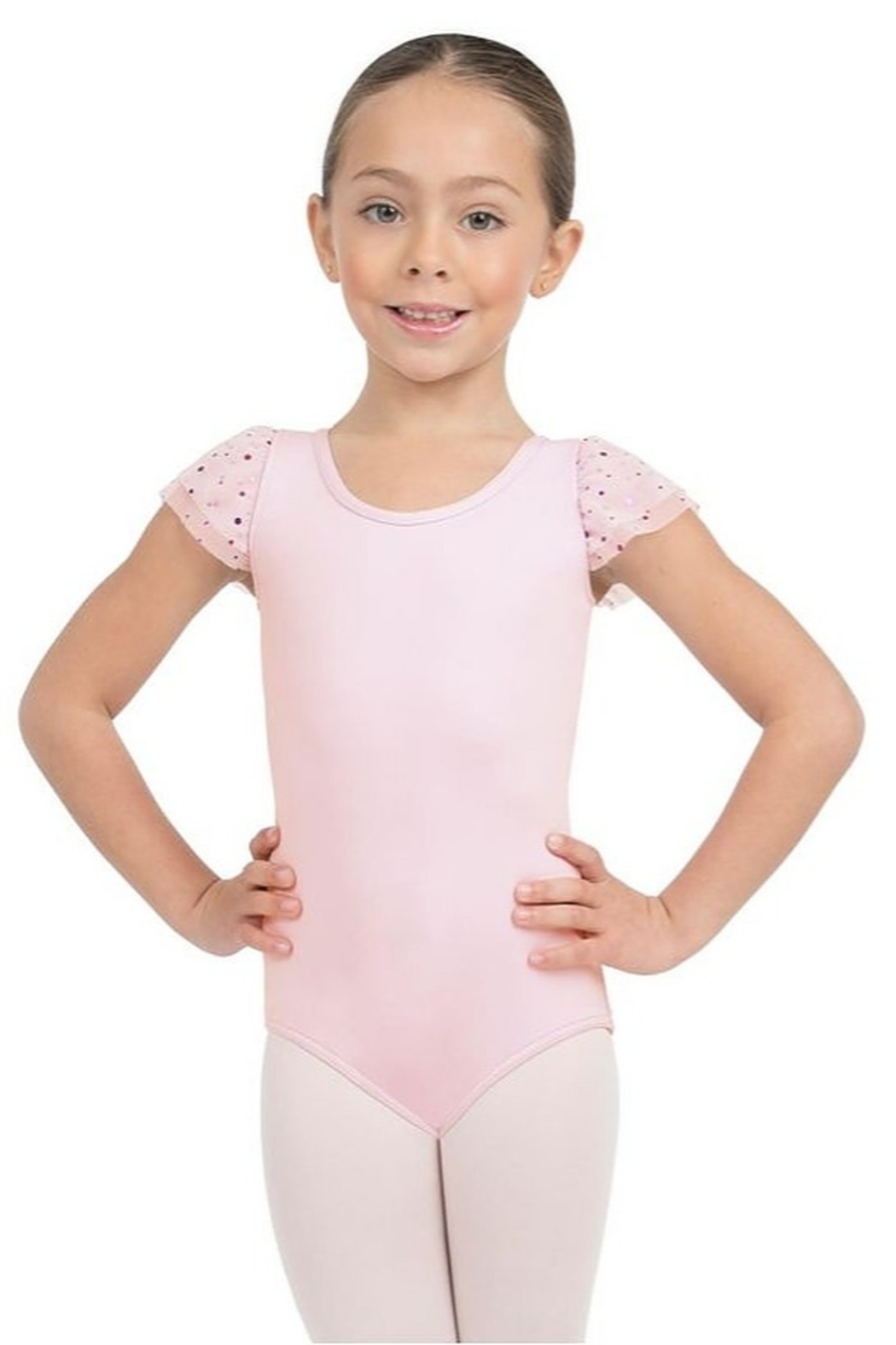 Capezio Flutter Sleeve Leotard - Front Cropped Image