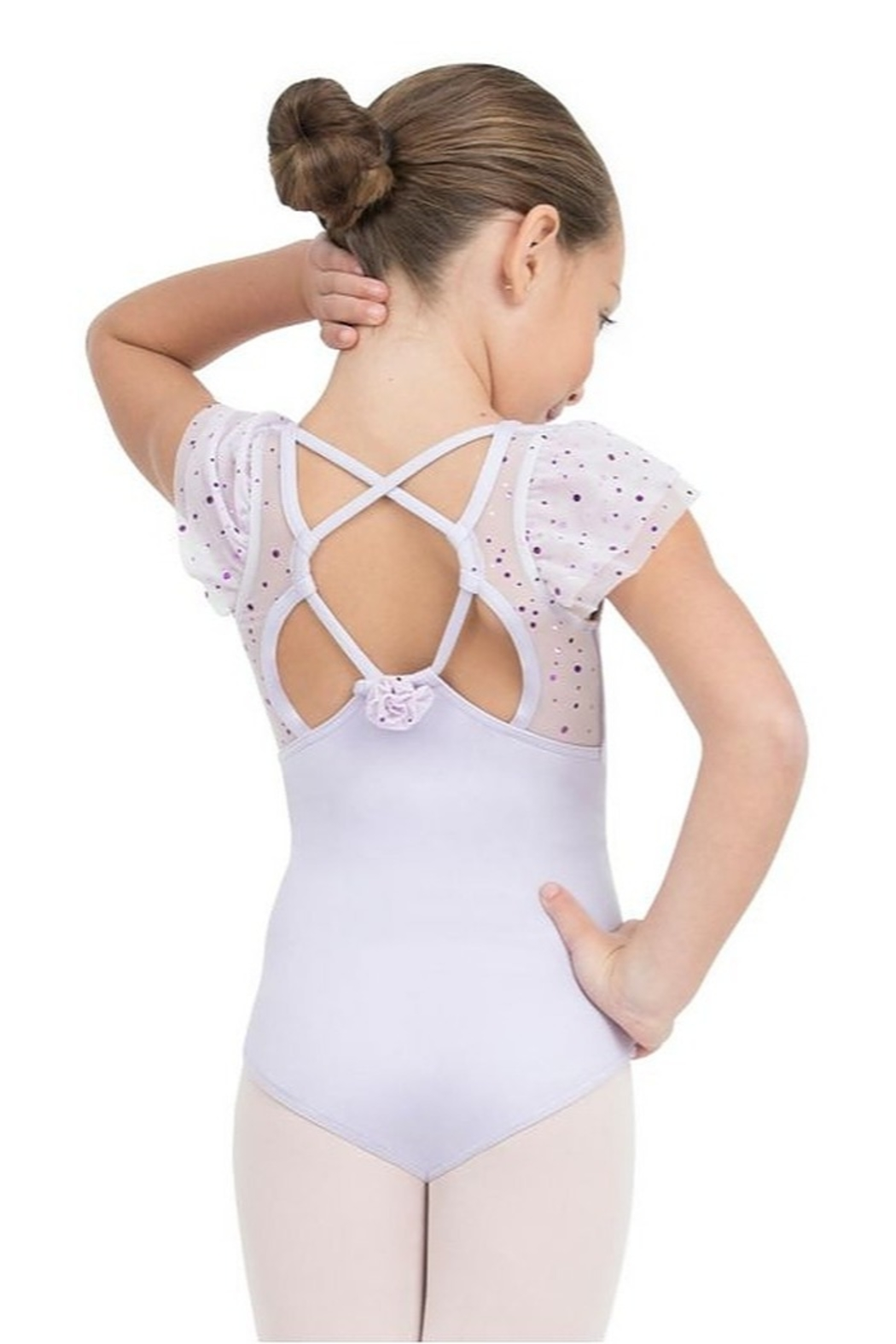 Capezio Flutter Sleeve Leotard - Front Full Image