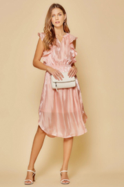 Andree by Unit Flutter Sleeve Midi Dress - Front full body