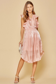 Andree by Unit Flutter Sleeve Midi Dress - Front cropped
