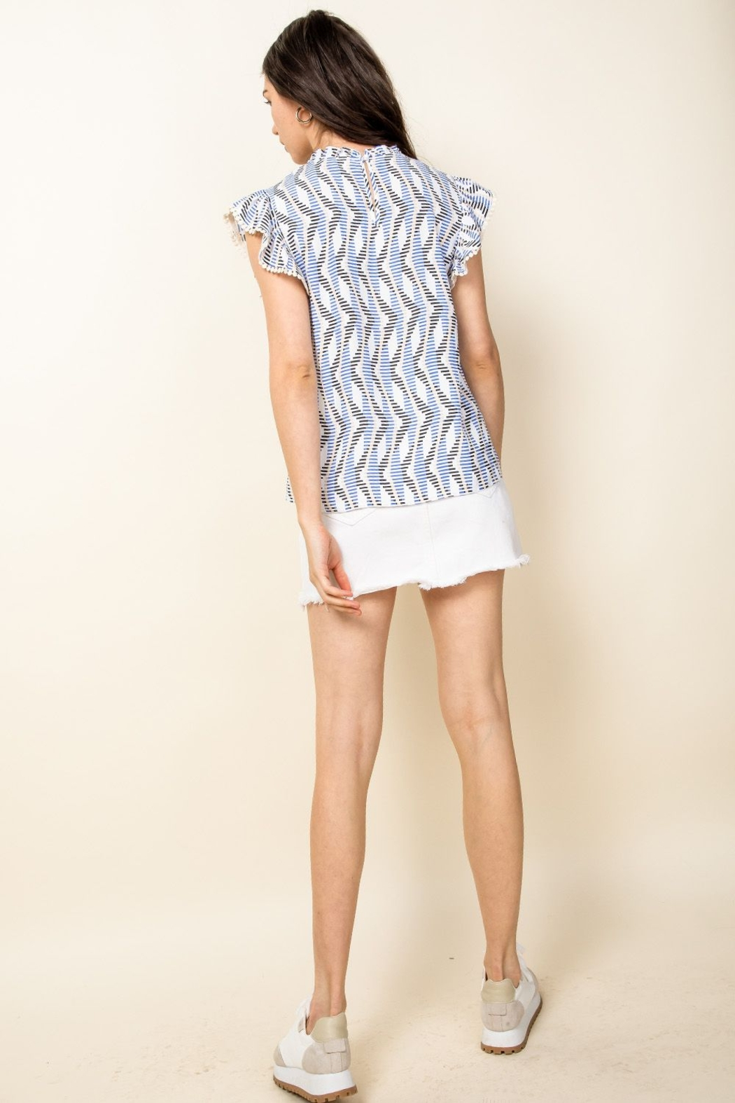 Thml Flutter Sleeve Printed Top - Side Cropped Image