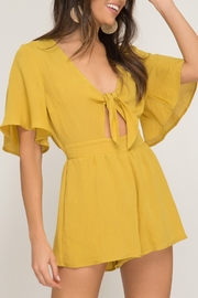She + Sky Flutter Sleeve Romper - Product Mini Image