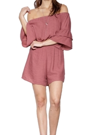 Pink Martini Flutter Sleeve Romper - Product Mini Image