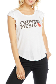 Chaser Flutter Sleeve Shirttail Tee - Product Mini Image