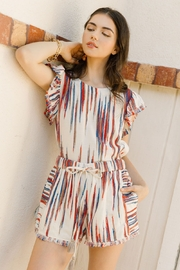 Thml Flutter Sleeve Stripe Top - Product Mini Image
