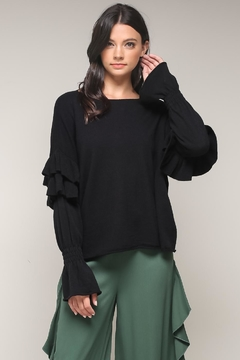 Shoptiques Product: Flutter Sleeve Sweater