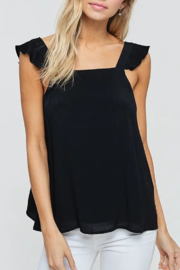 crescent Flutter Sleeve Tank - Product Mini Image