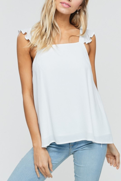 crescent Flutter Sleeve Tank - Product List Image