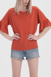 Double Zero Flutter Sleeve Top - Product Mini Image