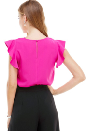 TCEC Flutter Sleeve Top - Side cropped