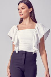 Do + Be  Flutter Sleeve Top - Product Mini Image