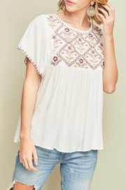 LuLu's Boutique Flutter Sleeve Top - Product Mini Image