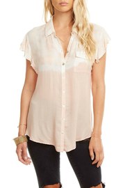 Chaser Flutter Slv Gauze Dip Dye Buttondown - Product Mini Image