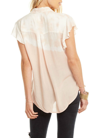 Chaser Flutter Slv Gauze Dip Dye Buttondown - Front full body