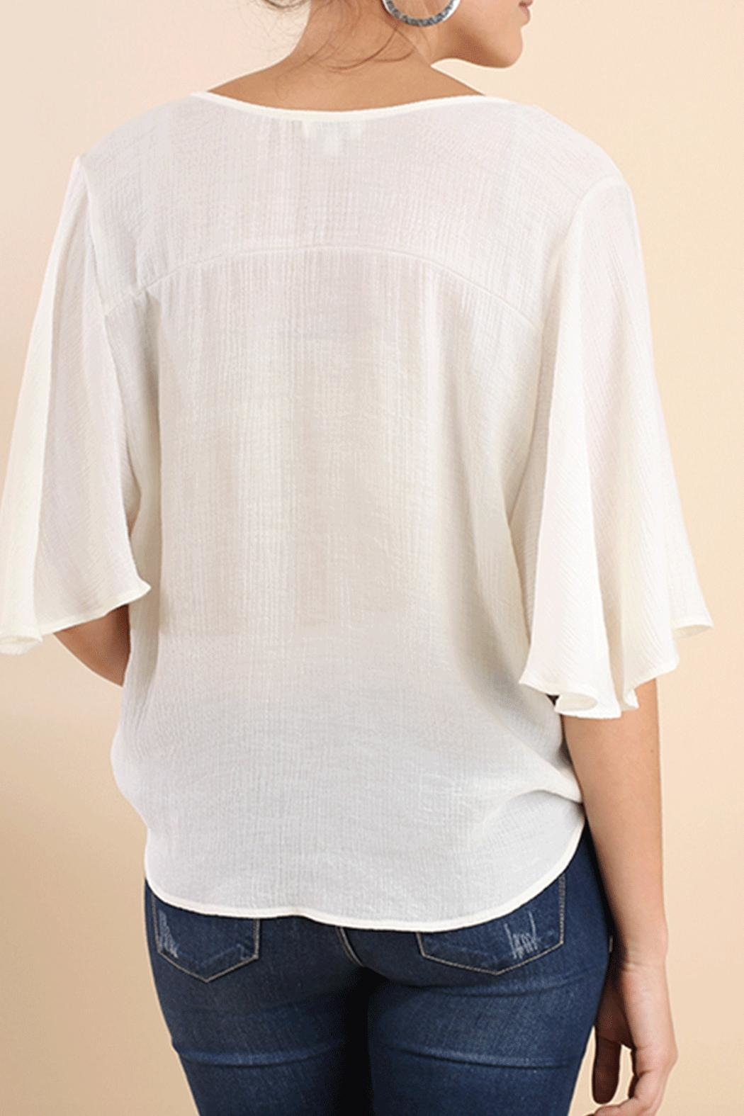 Umgee USA Flutter Surplice Top - Front Full Image