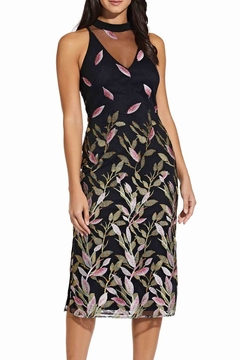 Adrianna Papell Fluttering Leaves Sheath Dress - Product List Image