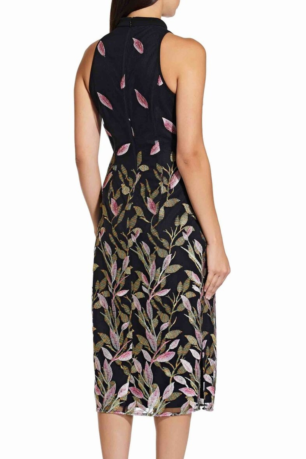 Adrianna Papell Fluttering Leaves Sheath Dress - Side Cropped Image