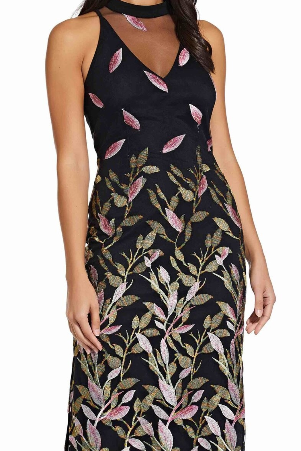 Adrianna Papell Fluttering Leaves Sheath Dress - Front Full Image